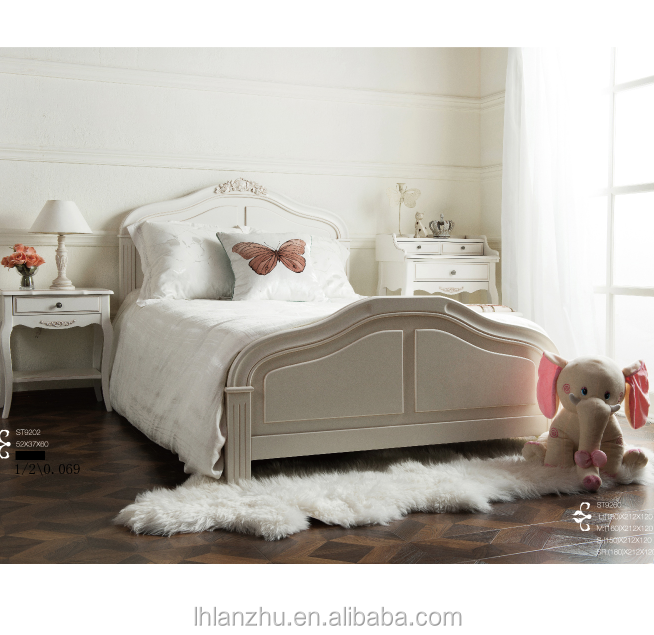 Modern Bedroom Furniture British Wind Style Chic White Bed