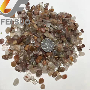 Wholesale colorful hair Quartz reiki chakra Tumbled Stones