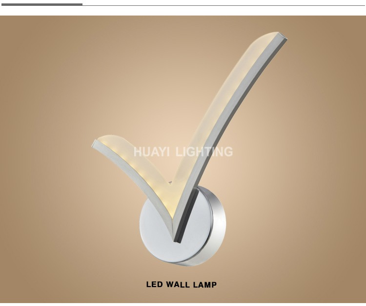 Huayi Hall Inside Large Led Wall Light Modern Design Indoor