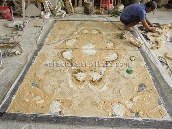 Inlaid Marble Floor Design : American style marble inlay flooring design cheap flower