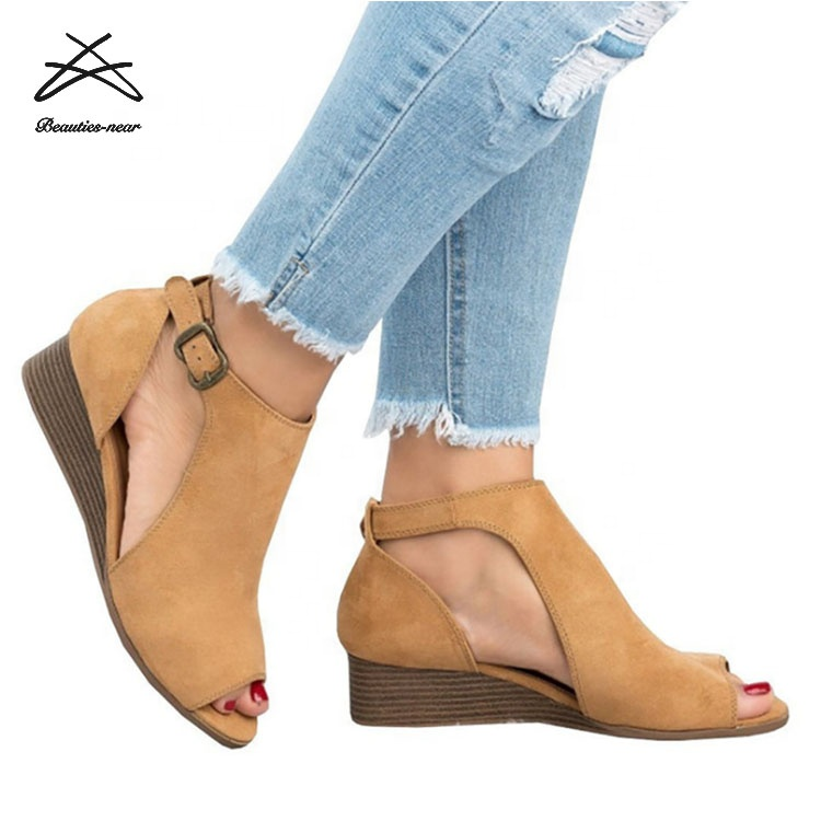 <strong>sandals</strong> for women and ladies 2018 wholesale wedge Ladies <strong>sandals</strong>