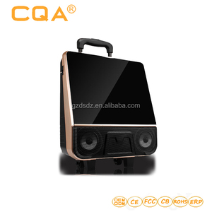 Square dance audio with display protable outdoor charging speaker vedio player K song wireless microphone