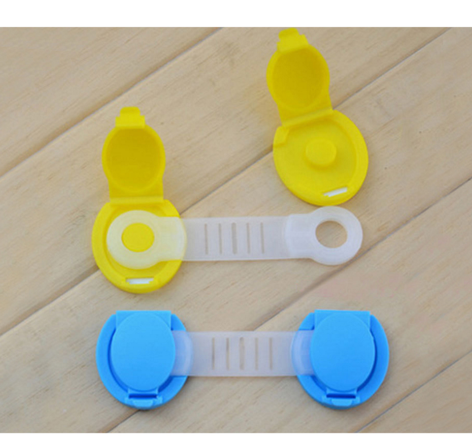 10Pcs/Lot Baby Children Kids Safety Care Plastic Cabinet Protect Locks Drawer Cabinet Lock Long Style Safety Lock Fridge Cabinet