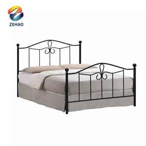 latest Italian round metal double bed frame king size metal bed designs