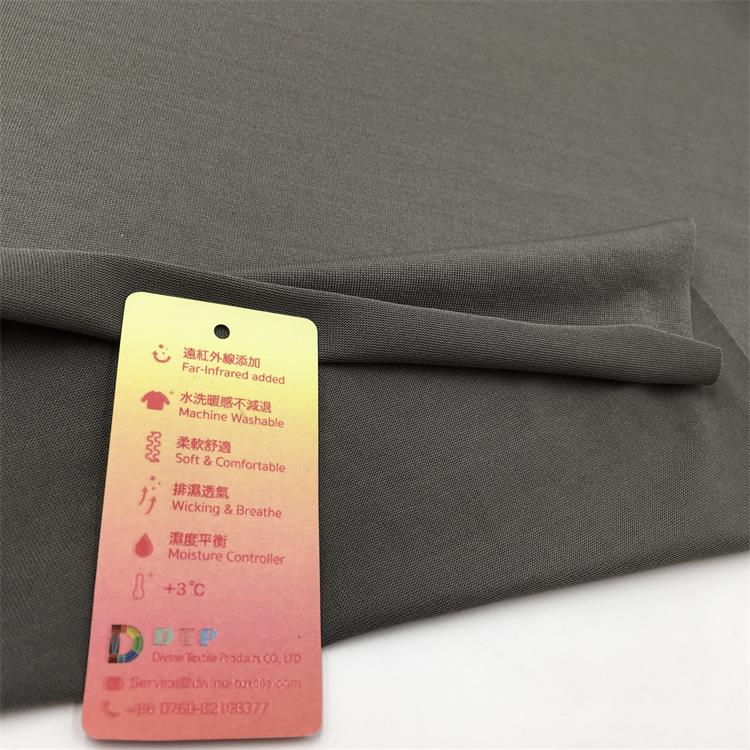 Dry-heat 100 polyester lining self heating healthcare fabric shrink proof
