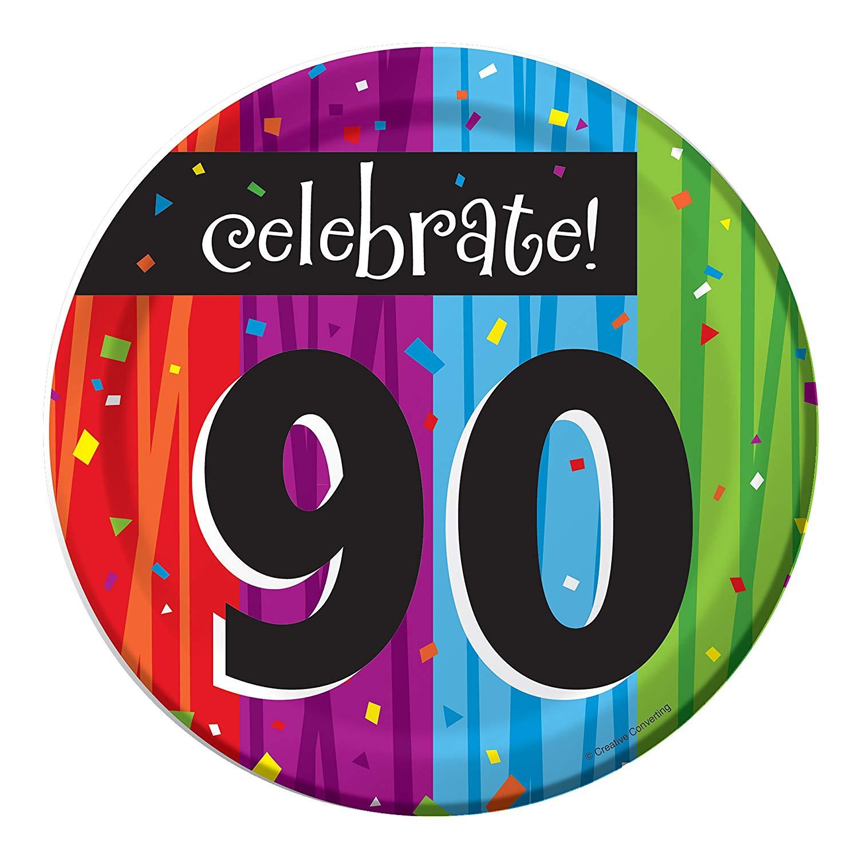 Milestone Celebrations 90th Birthday Dessert Plates, 24 ct