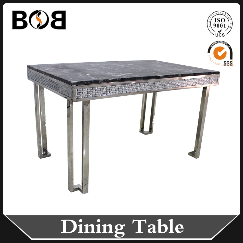 grey real marble top onyx dining table