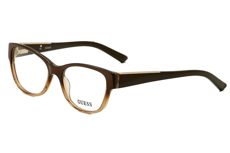 6ab86bab476 Get Quotations · Guess eyeglasses GU 2383 BRN Acetate Brown - Gold