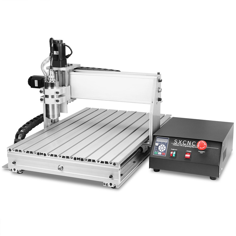 Sihao CNC Router 6040Z 4 Eksenli CNC Router Makine 800W Mili Ahşap Oyma Makinesi