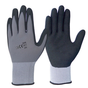 High Quality Popular Knit Bulk Cheap Sandy Nitrile Chemical Resistant Garden Dipping Gloves