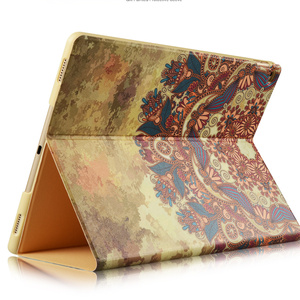 Slim-Fit color printing Folio Stand Smart Case Cover for 2017 New Ipad 9.7-inch