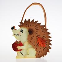 Easter Themed Felt Fabric Carry Hedgehog Squirrel Owl Patten Storage Bag Basket