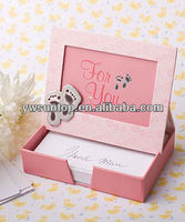 Adorable pink Photo frame and Memo Paper Sets baby shower gifts
