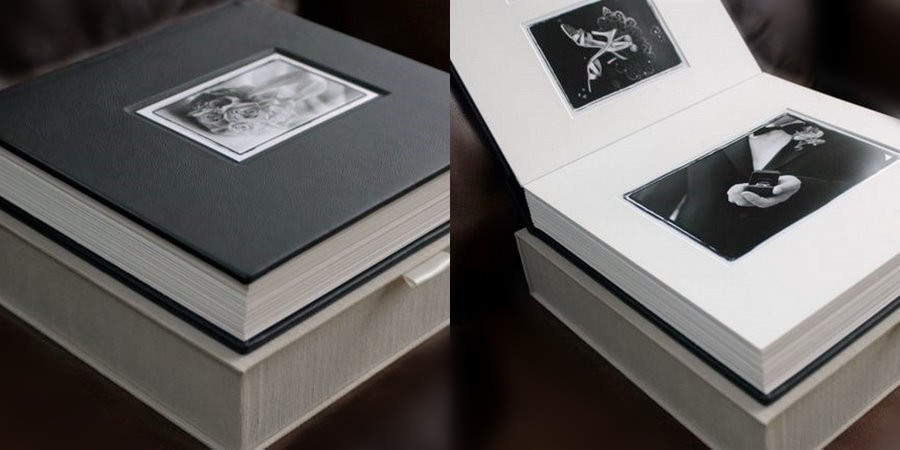 White Leather Book Cardboard Albums For Scrapbooking