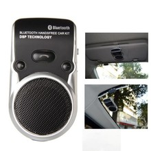 Bluetooth Car Kit Solar wireless car bluetooth two-link Solar Powered Handsfree Call Car Kit New Arrival
