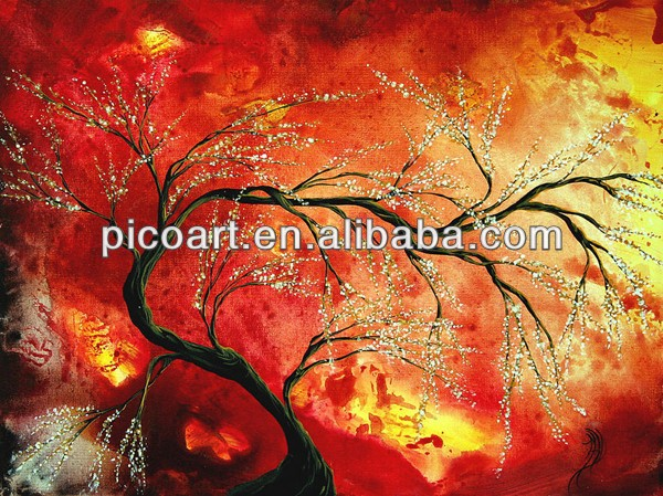 Modern Passion Tree Oil Painting,High Quality Art Picture
