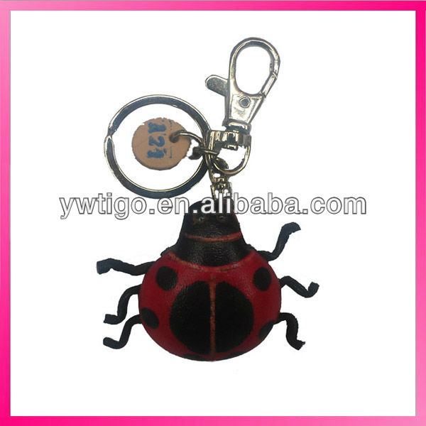 special handcraft fashion leather animal charm keychain