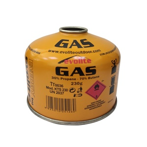 Camping gas 190g 227g 450g canister with EN417 threaded valve for gas stove
