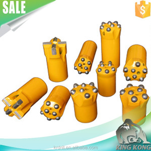 43mm 4,5,8 buttons 7/11/12 degree tapered pdc drill bit for sandstone drilling