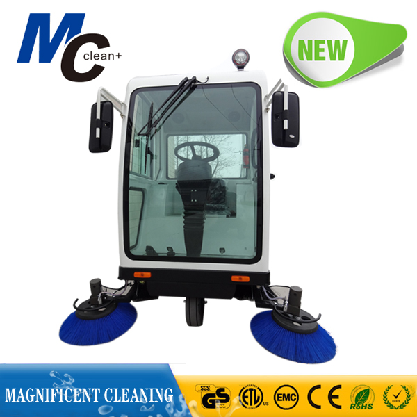 MC RS1800B huge tank ride on vacuum street sweeper electric wet floor cleaner