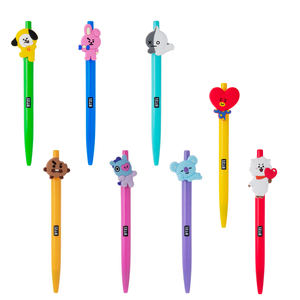 Promotional Official BTS Bangtan Boys Pen BT21 Ball Point Jungkook Tata Suga Black Ink Gel Pens AD1022