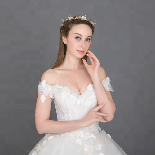 8829 Suzhou Fabbrica Custom Made Long Trail Abito Da Sposa