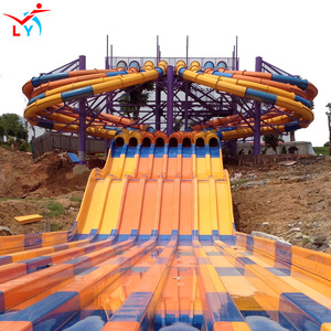 big water slide fiberglass aqua park equipment,octopus water slides price