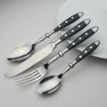 20pcs set stainless steel German Hampton hand forged flatware cutlery with black bakelite handle