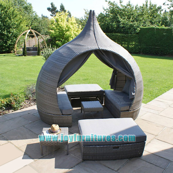 Outdoor Round Daybed rattan Daybed with Canopy Pear Daybed & Outdoor Round Daybed Rattan Daybed With Canopy Pear Daybed - Buy ...