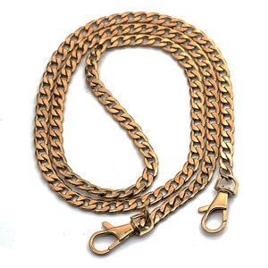 8mm gold detachable metal stainless steel chain handle hand bag accessories with hook