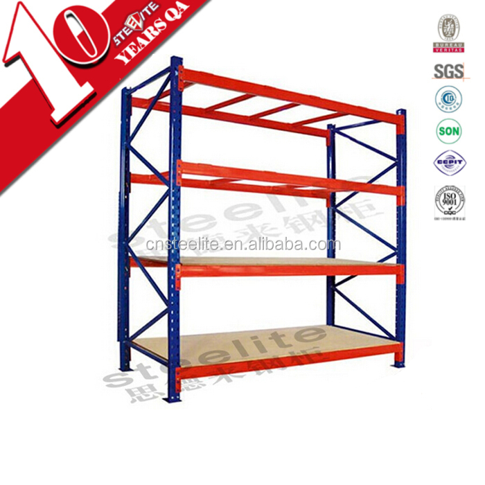 Hot sell high quality 4 layer 3 bay long span warehouse racks for sale, storage rack