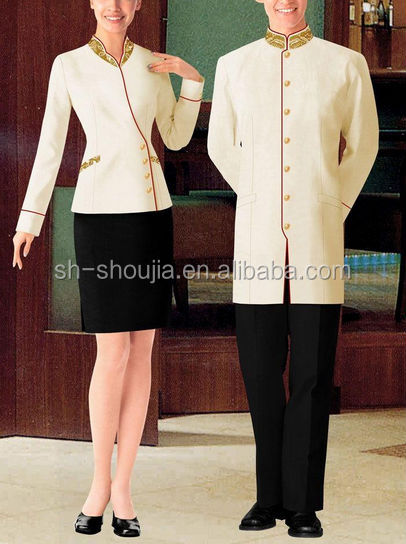 Custom hotel reception uniform for women men buy hotel for Hotel uniform spa