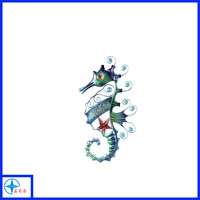 Hand made Metal colours seahorse wall sculpture for decoration