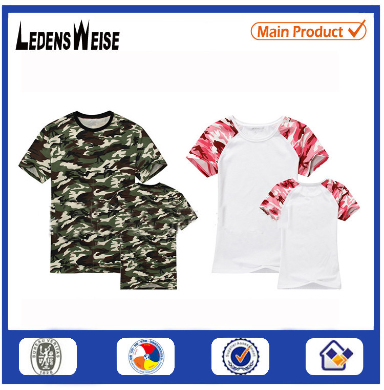 Camo blank raglan t shirt wholesale