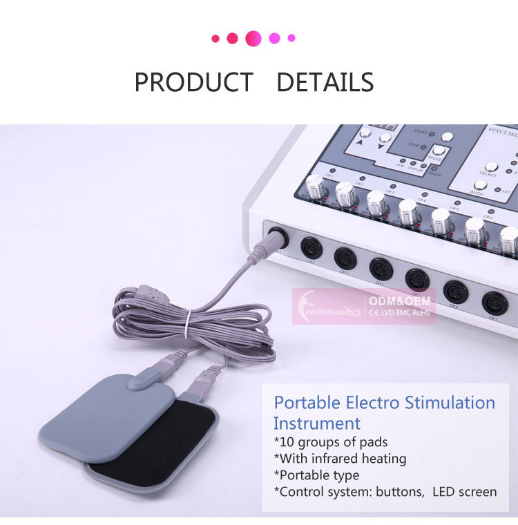 Electric muscle stimulator/ems slimming machine/weight loss electrotherapy
