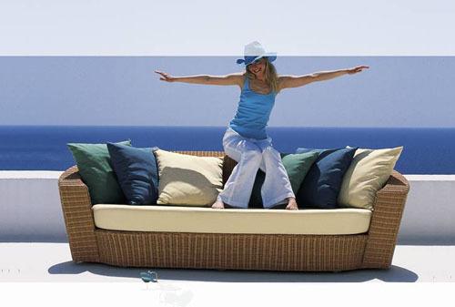 AWRF6023 New Design Classic All Weather Synthetic im<em></em>ported Garden Cane Beach Furniture,cane bench