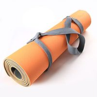 High Quality Easy Carry Custom Non Slip 6mm Eco Friendly TPE Yoga Mat With Yoga Strap