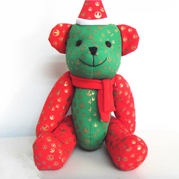 Christmas bear stuffed plush toy jointed teddy bear