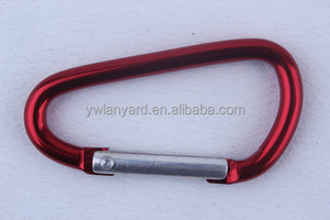 Red metal carabina fitting for bags/keychain