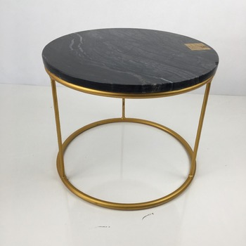 Tfa Cafe Table Marble On Top Round Table Metal End Table Buy - Round metal cafe table