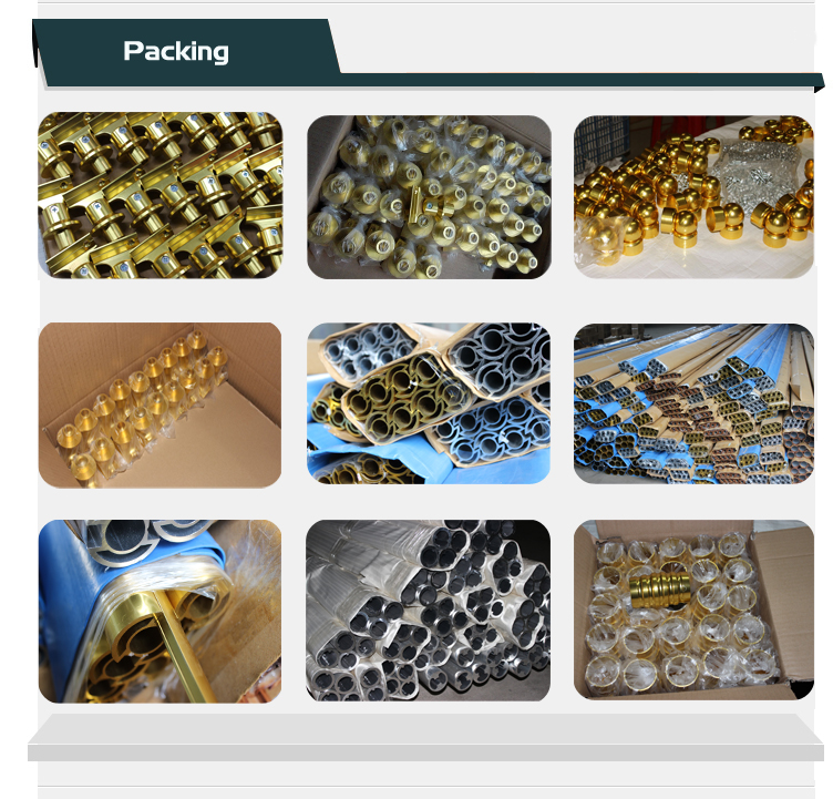Golden Or Silver Aluminum Handrail Bracket Accessory For Outdoor ...