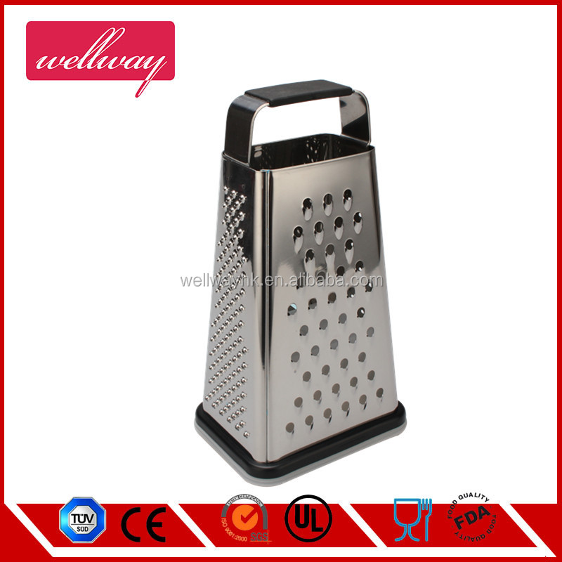 Latest Ultra Sharp Stainless Steel Box Grater - Lifetime Replacement Warranty - Best Food Grater for Hard & Soft Cheese, Veg