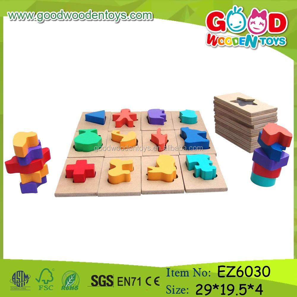 Nuevo dise o de madera ni os juego inteligente colorida - Juguetes nuevos para ninos ...