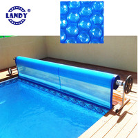 Hot sale 600 micron blue black swimming pool solar pe bubble cover,600 mic beautiful black bubble pvc swim pool covers