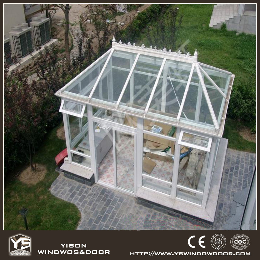 Premium quality nice design aluminum glass house for villa garden