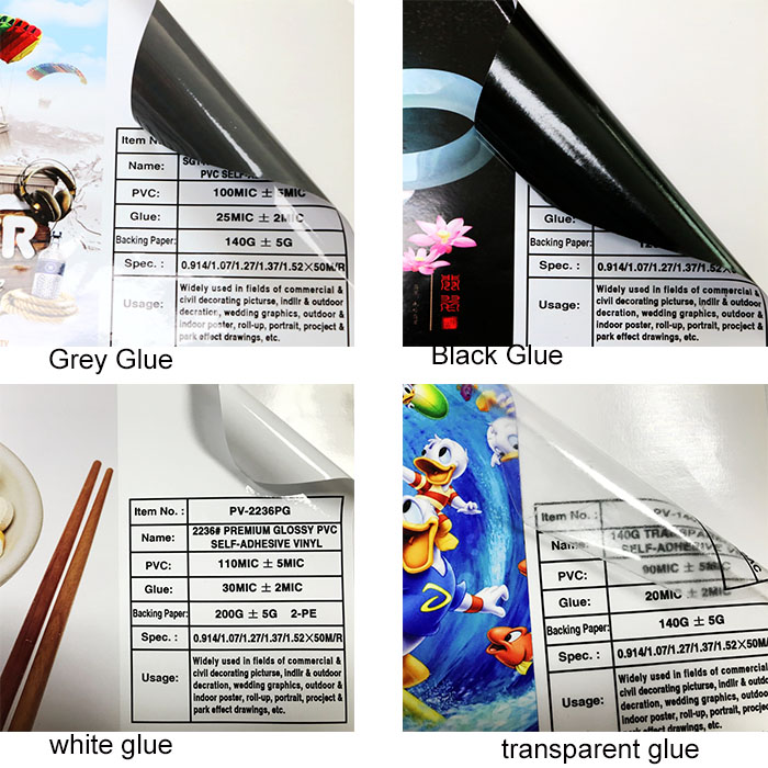 factory price printable self adhesive vinyl film black for car sticker