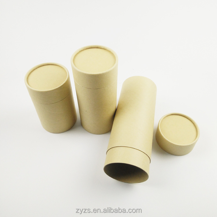 Small Round eco mini recycled paper cardboard kraft lip balm tubes