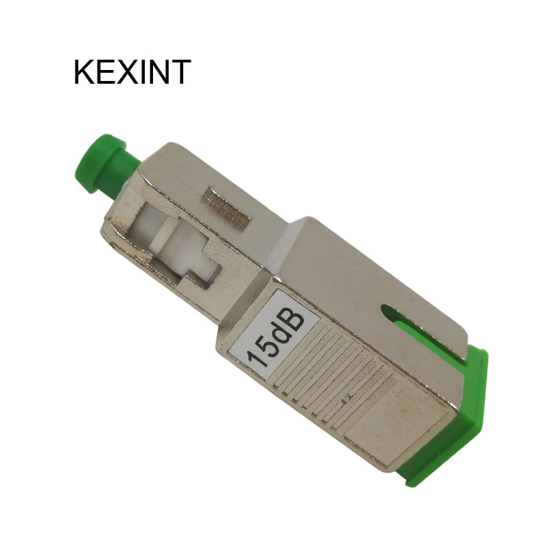 SC FC Fixed Optical Attenuator Low PDL FTTX Network Telecommunciation Fiber Optic Attenuators