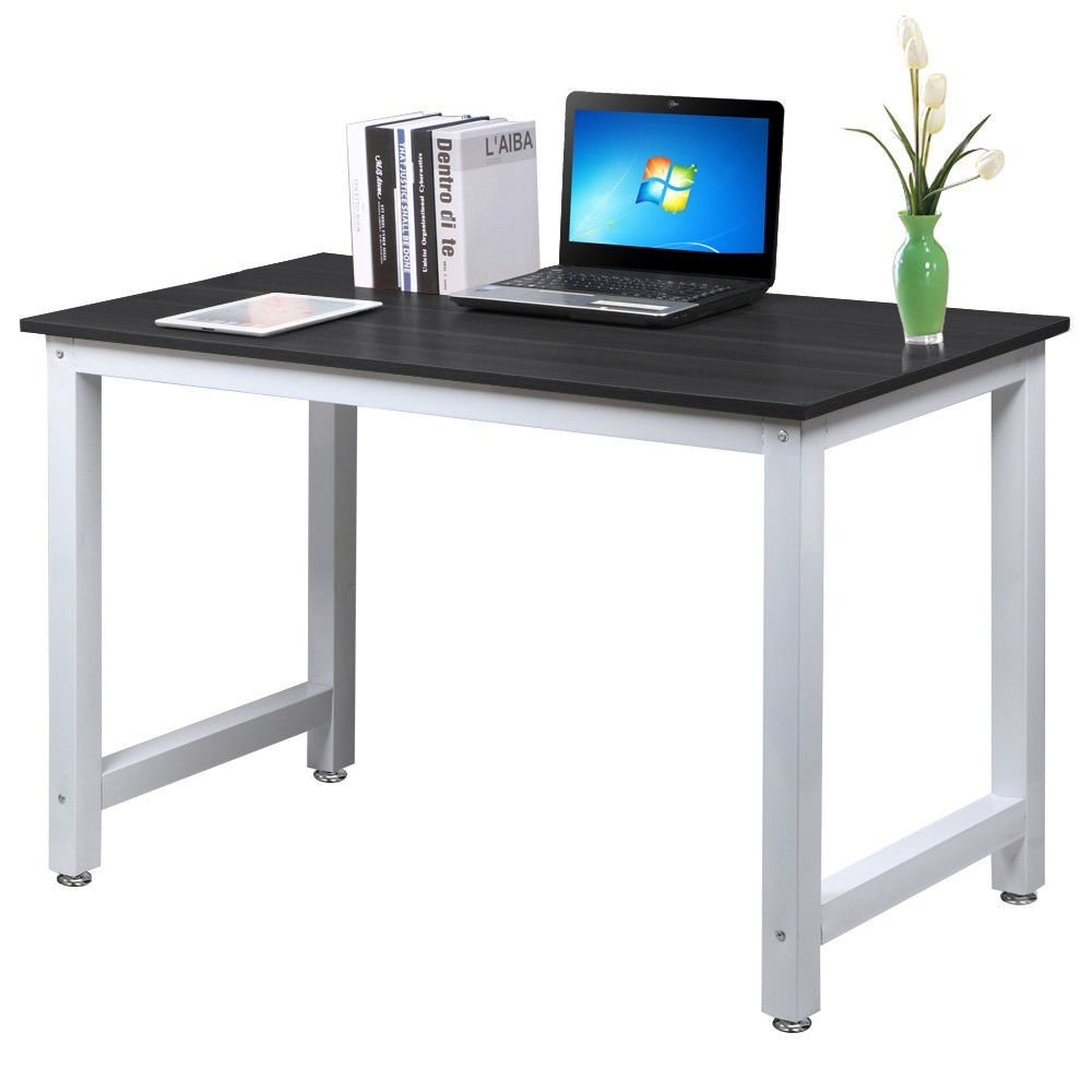 NEW Black Wood Computer Desk PC Laptop Study Table Workstation Home Office Furniture