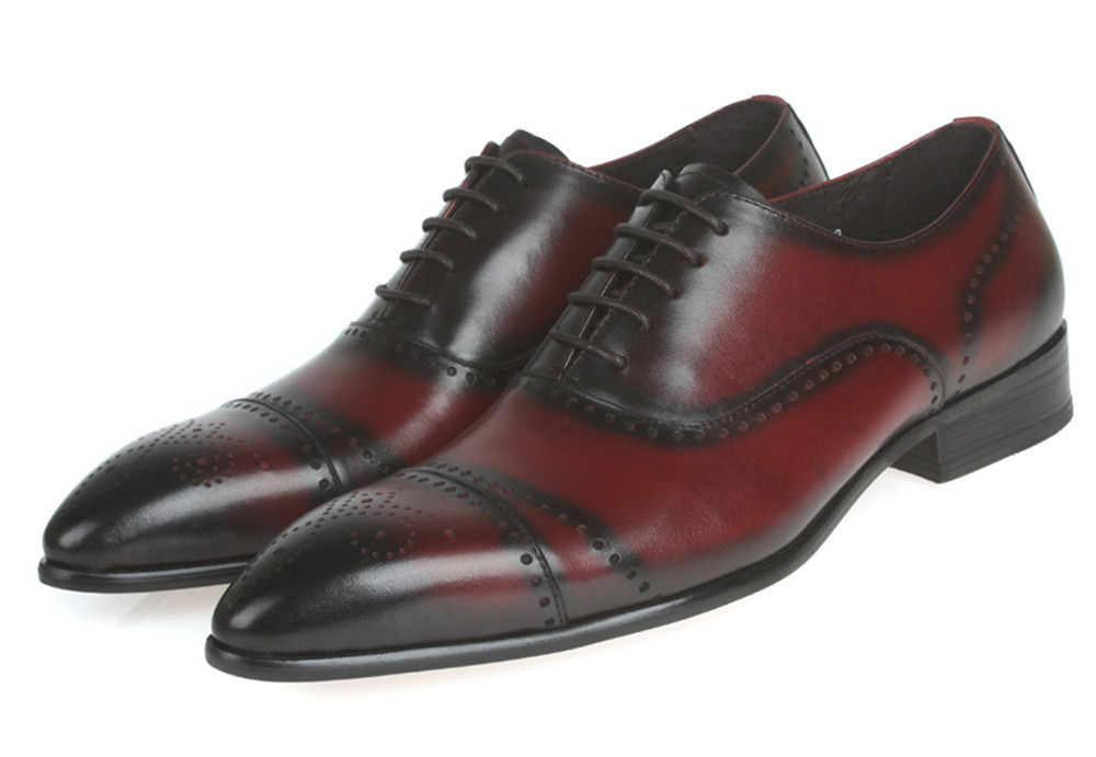 151509fcb0e8 Buy Fashion reddish brown  Black mens oxfords shoes wedding shoes genuine  leather mens business shoes new mens dress shoes 2015 in Cheap Price on  m.alibaba. ...